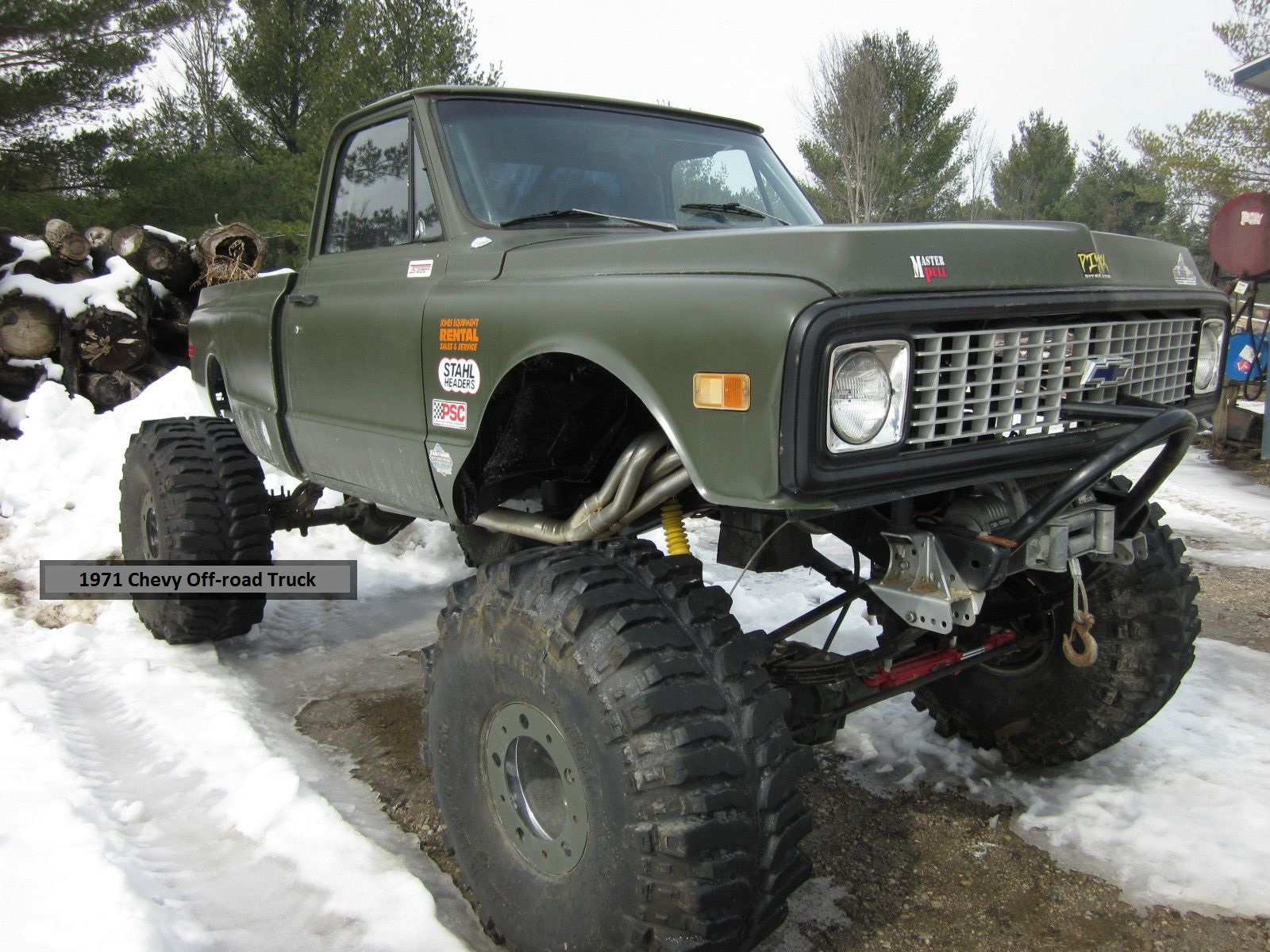 1971 Chevy Off Road Truck Car Auto Trucks